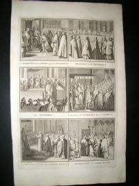 Picart C1730 Folio Antique Print. Religious Catholic 34
